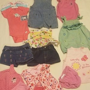 mixed Matching Sets - 28 piece bundle baby girl clothes